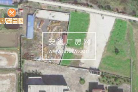 富春江边43亩土地带厂房150万一亩 钢结构厂房 标准厂房 宿舍 如图各两栋